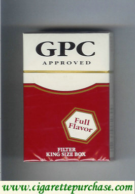 Discount GPC Approved Full Flavor Filter King Size Box Cigarettes hard box