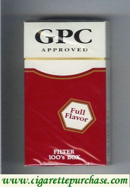 Discount GPC Approved Full Flavor Filters 100s Box Cigarettes hard box