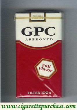 Discount GPC Approved Full Flavor Filters 100s Cigarettes soft box