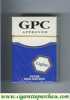 Discount GPC Approved Lights Filters King Size Box Cigarettes hard box