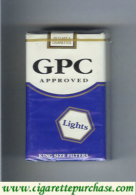 Discount GPC Approved Lights King Size Filters Cigarettes soft box