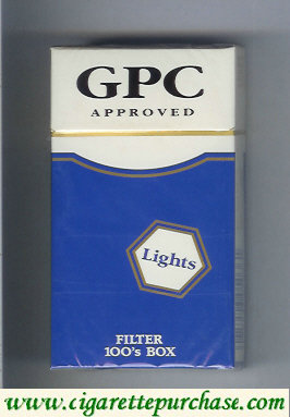 Discount GPC Approved Lights Filter 100s Box Cigarettes hard box