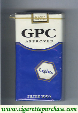 Discount GPC Approved Lights Filter 100s Cigarettes soft box
