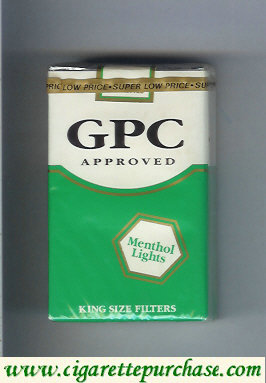 Discount GPC Approved Menthol Lights King Size Filters Cigarettes soft box