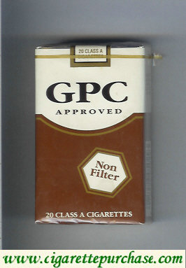 Discount GPC Approved Non Filter 20 Class A Cigarettes soft box
