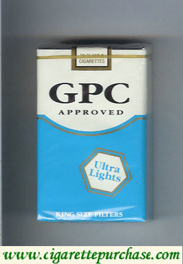 Discount GPC Approved Ultra Lights King Size Filters Cigarettes soft box
