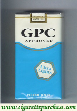 Discount GPC Approved Ultra Lights Filter 100s Cigarettes soft box
