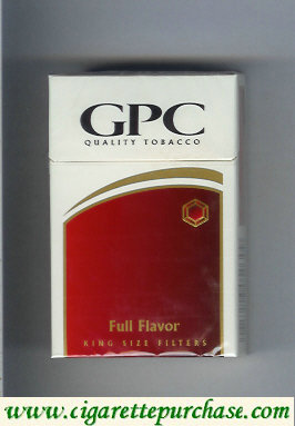 Discount GPC Quality Tabacco Full Flavor King Size Filters Cigarettes hard box