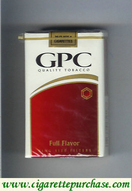 Discount GPC Quality Tabacco Full Flavor King Size Filters Cigarettes soft box