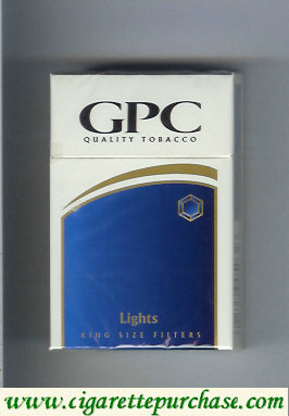 Discount GPC Quality Tabacco Lights King Size Filters Cigarettes hard box