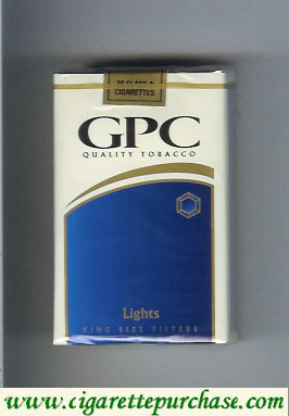 Discount GPC Quality Tabacco Lights King Size Filters Cigarettes soft box