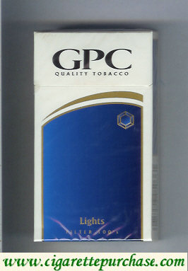 Discount GPC Quality Tabacco Lights Filter 100s Cigarettes hard box