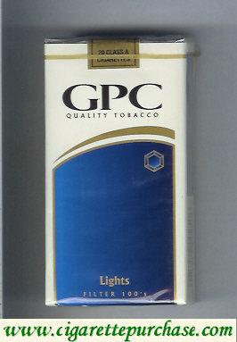 Discount GPC Quality Tabacco Lights Filter 100s Cigarettes soft box