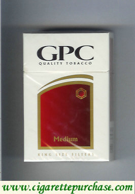 Discount GPC Quality Tabacco Medium King Size Filters Cigarettes hard box
