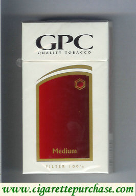 Discount GPC Quality Tabacco Medium Filter 100s Cigarettes hard box