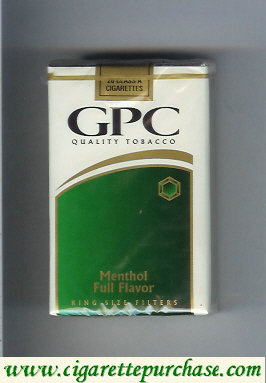 Discount GPC Quality Tabacco Menthol Full Flavor King Size Filters Cigarettes soft box