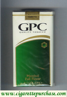 Discount GPC Quality Tabacco Menthol Full Flavor Filter 100s Cigarettes soft box