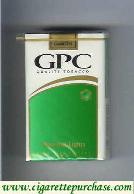 Discount GPC Quality Tabacco Menthol Lights King Size Filters Cigarettes soft box
