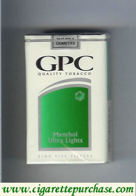 Discount GPC Quality Tabacco Menthol Ultra Lights King Size Filters Cigarettes soft box