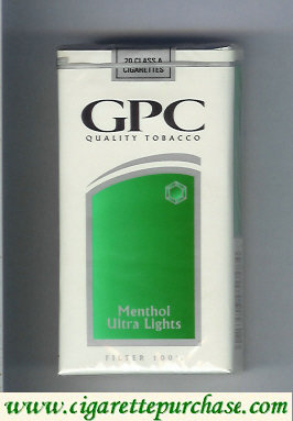 Discount GPC Quality Tabacco Menthol Ultra Lights Filter 100s Cigarettes soft box