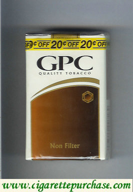 Discount GPC Quality Tabacco Non-Filter Cigarettes soft box