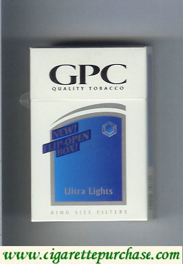Discount GPC Quality Tabacco Ultra Lights King Size Filters Cigarettes hard box