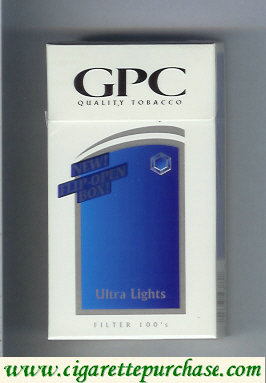 Discount GPC Quality Tabacco Ultra Lights Filter 100s Cigarettes hard box