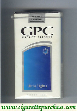 Discount GPC Quality Tabacco Ultra Lights Filter 100s Cigarettes soft box