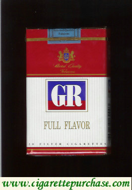 GR Selected Quality Tobaccos Full Flavor white and red cigarettes soft box