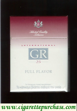 GR Selected Quality Tobaccos International 25s Full Flavor white and red cigarettes hard box
