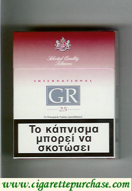 GR Selected Quality Tobaccos International 25s white and red cigarettes hard box