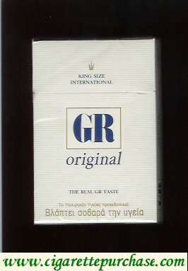 GR King Size International Original white cigarettes hard box