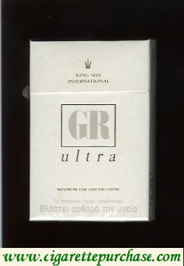 GR King Size International Ultra white cigarettes hard box