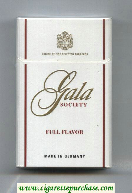 Gala Society Full Flavor cigarettes hard box