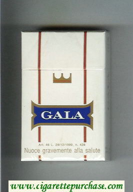 Gala cigarettes hard box