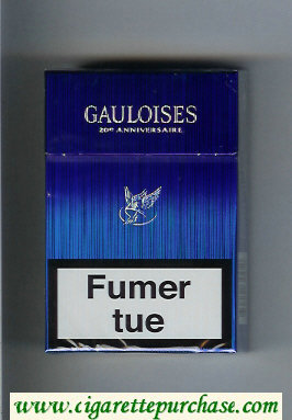 Discount Gauloises Blue cigarettes hard box