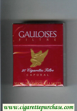 Discount Gauloises Filtre Caporal red cigarettes hard box