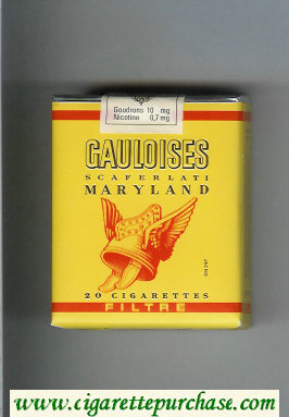 Discount Gauloises Filtre Scaferlati Maryland yellow cigarettes soft box