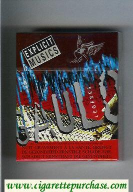 Discount Gauloises Expicit Musics Legeres 25s cigarettes hard box