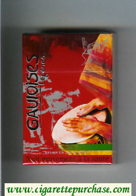 Discount Gauloises with drum Legeres cigarettes hard box