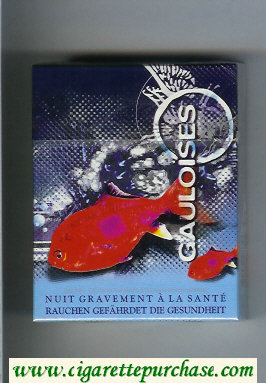 Discount Gauloises with fish 25s cigarettes hard box