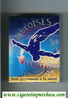 Discount Gauloises with gymnast 30s cigarettes hard box