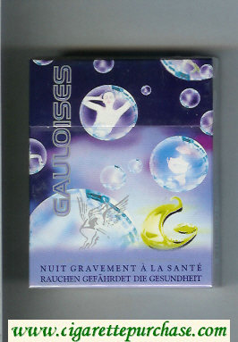 Discount Gauloises with soap-bubble 25s cigarettes hard box