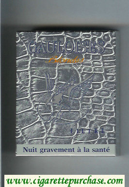 Discount Gauloises Blondes Filtre grey 25s cigarettes hard box