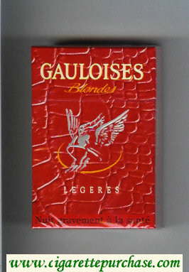 Discount Gauloises Blondes Legeres red cigarettes hard box