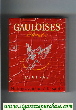 Discount Gauloises Blondes Legeres red 30s cigarettes hard box