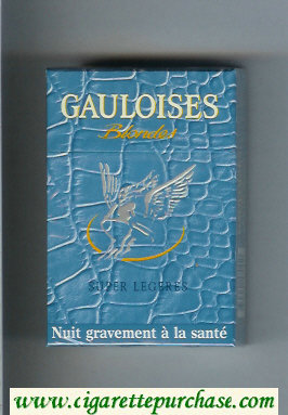 Discount Gauloises Blondes Super Legeres light blue cigarettes hard box