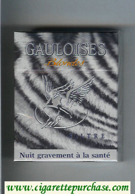 Discount Gauloises Blondes cigarettes Filtre 25s grey hard box