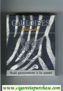 Discount Gauloises Blondes cigarettes Filtre grey 25s hard box