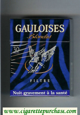 Discount Gauloises Blondes Filtre 30s blue cigarettes hard box
